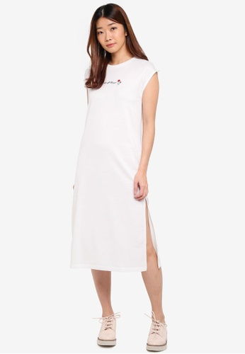 Something Borrowed white High Slit Midi Dress with Embroidery BD735AAF16A762GS_1