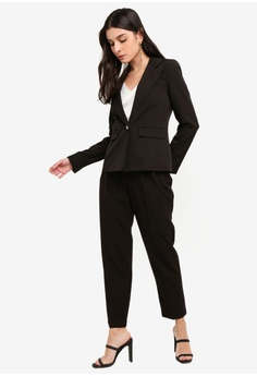 93c9e6558f39c Miss Selfridge Black Nipped In Blazer RM 269.00. Sizes 6 8 10 12 14