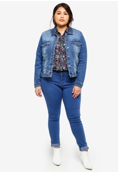 fb08fbf13ab 15% OFF Only CARMAKOMA Plus Size Wespa Denim Jacket RM 209.00 NOW RM 177.90  Sizes 42 44 46 48 52