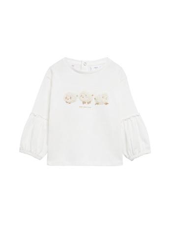 MANGO BABY white Long Sleeves Textured T-Shirt F2004KA33ACB74GS_1