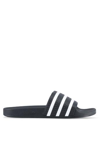 adidas black and white adidas originals adilette AD372SH0SSMVMY_1