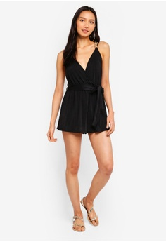 ff8d37f40b 21% OFF River Island Slinky Jersey Plunge Playsuit S  46.90 NOW S  36.90  Available in several sizes