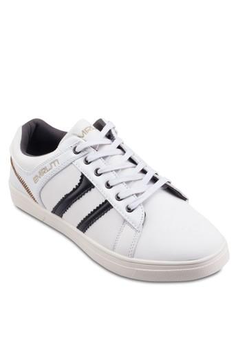撞色仿皮繫帶運zalora 評價動鞋, 鞋, 鞋