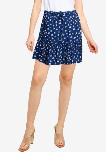 Cotton On blue Penny Tiered Mini Skirt 82C1EAA78F231CGS_1