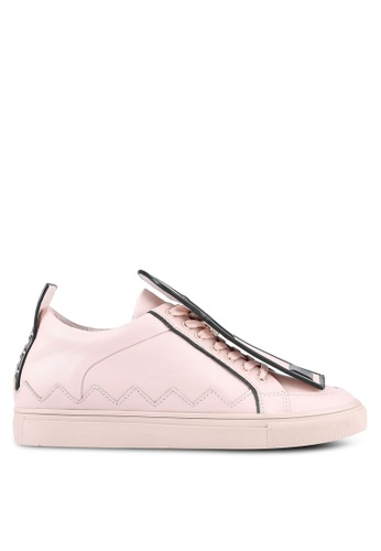 House of Avenues pink Sneakers With Detachable Printed Zip Detail HO685SH0RR9WMY_1