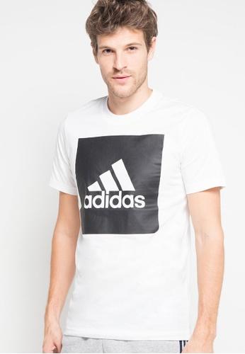adidas 白色 短袖LOGO印花T恤 ED6BEAA2FF80DAGS_1