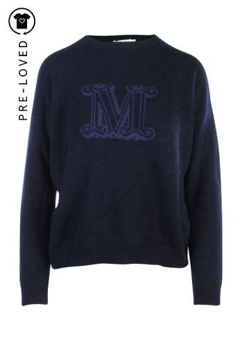 """Max Mara blue Pre-Loved max mara FERITO"""" BLUE CASHMERE PULLOVER 3217FAA2058D6AGS_1"""