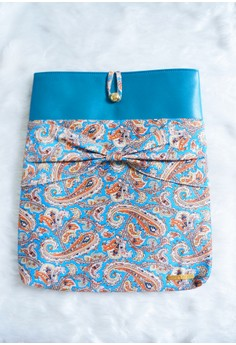Holly Laptop Sleeve - Caribbean Blue Paisley