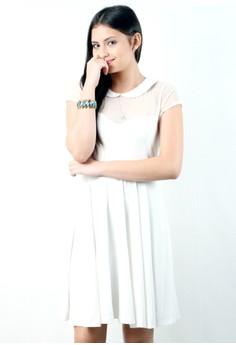 Mesh Purity Mid-length Dress