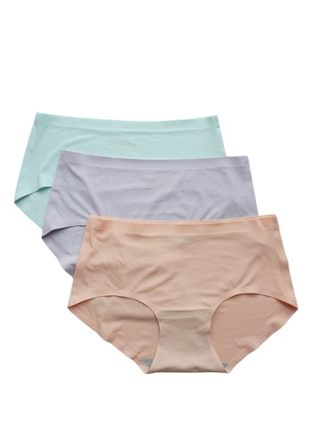 Love Knot pink and blue and purple [Set of 3] Mervy Seamless Panties(Cotton Candy) DBE2DUS41B6030GS_1