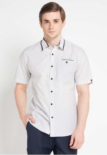 Contempo white and multi Men Shirt S/S Casual CO339AA0VUNCID_1