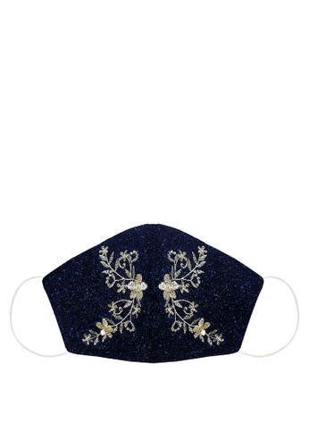 ODAIBA navy ELEGANT BLUE Ear Loop Premium Mask 2 ply with insertion 37A2EES98C72E8GS_1