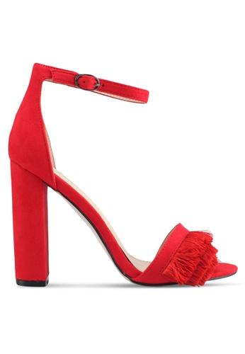Public Desire red Pepper Frill Toe Detail Heels E64E4SH88D3BFBGS_1
