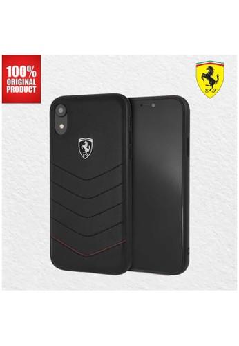 Ferrari black Ferrari Heritage Quilted Leather - iPhone XR - Black AA388ESACBD533GS_1