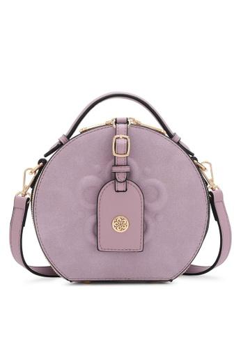 Wild Channel purple Faux Leather Top Handle Bag 3C9AFACD499D57GS_1