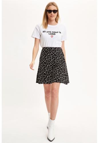 DeFacto black Printed Mini Skirt 6EEA9AAEC10283GS_1