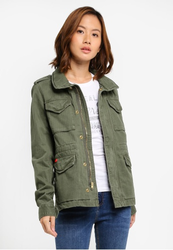 Superdry green Rookie Classic Military Jacket E6D45AA1410C56GS_1