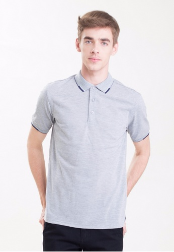 Drum Single Striped Collar Polo Shirt-Hgy DR425AA0RSCBMY_1