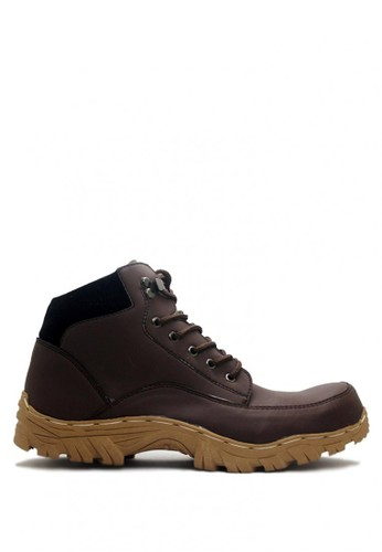 D-Island brown D-Island Shoes Boots Rider Iron Leather Dark Brown DI594SH0VOEUID_1