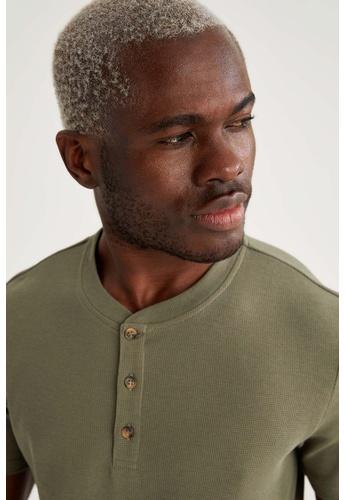 DeFacto green Man Knitted T-Shirt F7853AA423DFE4GS_1