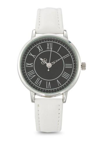 羅馬數字圓框仿皮手錶, 錶類, 休閒esprit tw型