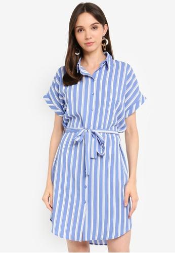 Vero Moda 藍色 襯衫洋裝 27387AAA930EC2GS_1