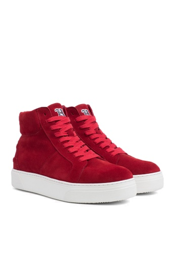 Tommy Hilfiger red LEWIS HAMILTON SUEDE HIGH TOP B87ADSH5D0CAAFGS_1
