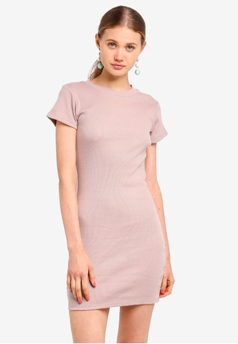 Supre beige Rib T-Shirt Dress CE2D2AA662F6DAGS_1