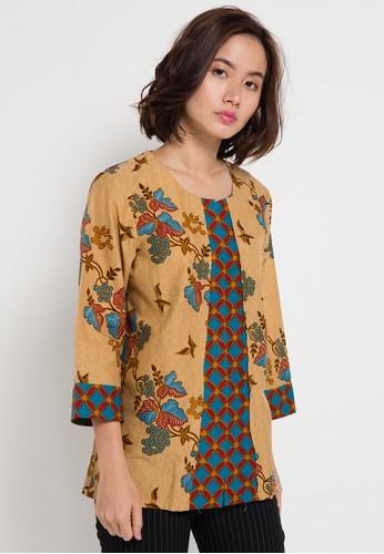 Danar Hadi Blouse Batik Print Motif Lereng Kukilo Latar Galar