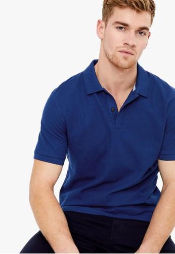 MARKS & SPENCER blue Pure Cotton Polo Shirt F3E64AA8FDFDE5GS_1