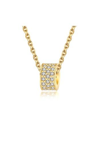 SUNRAIS gold Premium colored stone gold simple design necklace 9F24EACEB6A4E8GS_1