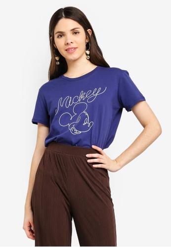 Cotton On blue Tbar Fox Graphic T-Shirt 63073AAD75B56FGS_1