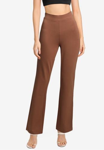 JACQUELINE DE YONG brown Pretty Flare Pants C4B49AAA1482D9GS_1