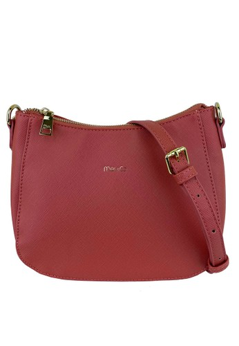 Mel&Co pink Faux Leather Sling Bag 3E4BEAC5129B3EGS_1