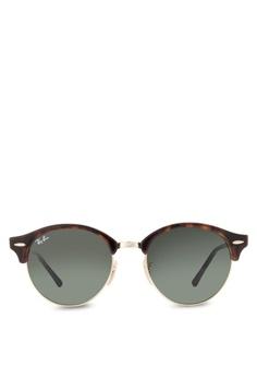 49bee9053 Ray-Ban brown Clubround RB4246 Sunglasses RA896GL20CXNMY 1