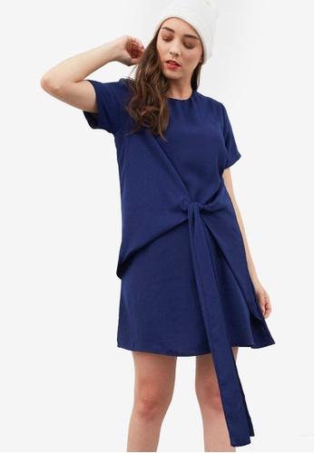 Berrybenka blue Gunn Knot Dress 4C776AA2CA21C6GS_1