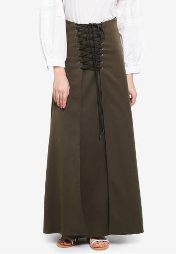 Zalia green Laced Up Skirt D0383AA4E944C7GS_1