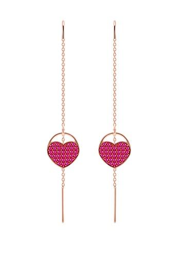 Ginger Heart Pierced Earrings