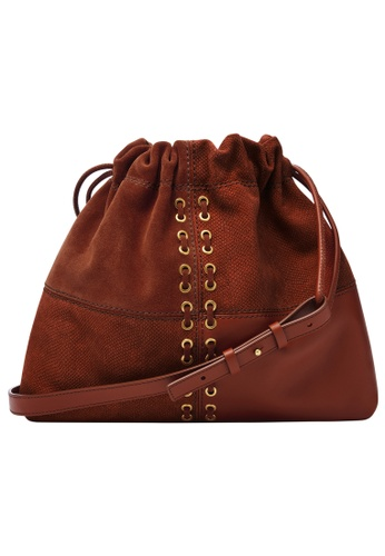 FOSSIL brown Gigi Shoulder Bag ZB1559613 8C57CAC7216784GS_1