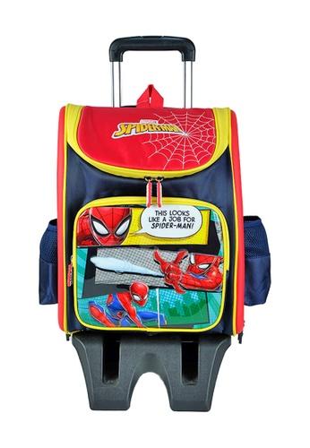 MARVEL navy Marvel Avengers VAE2046 16 inch Spiderman EVA Detachable TRIO Trolley School Bag 8175DKC1CE76FFGS_1
