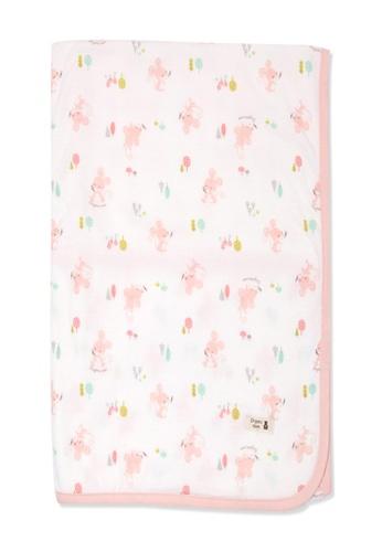 Organic mom pink Organic Cotton Carol Mouse Swadding Blanket 06BCCKC1E13D03GS_1