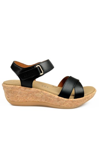 Beajove black Beth Wedges Sandals BE707SH67IYYID_1