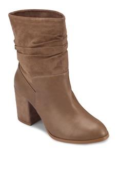 Calf Block Heel Boots
