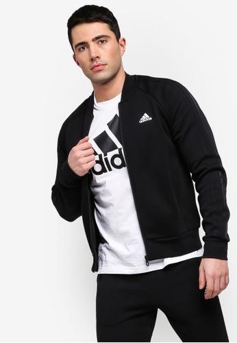f34fba6c5b1d adidas black adidas performance comm bomber 3s jacket D46EFAAD6BBCA7GS 1