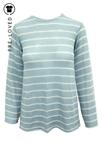 Reformation blue Pre-Loved reformation Light Blue Sweater with White Straps 83EF5AA7A66B67GS_1