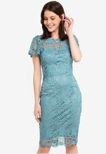 Paper Dolls green Sage Lace Dress 1D26CAA8266086GS_1