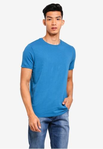 J.Crew blue Men's Slim Washed Jersey Crew T-Shirt D594EAA3820514GS_1