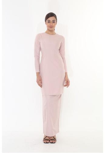 Amar Amran pink Baju Kurung Moden Qasandra 220C4AAC028BEAGS_1