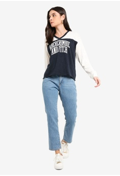 862b1080e38 22% OFF Abercrombie   Fitch Long Sleeve Logo Top S  70.00 NOW S  54.90 Sizes  XS S M L