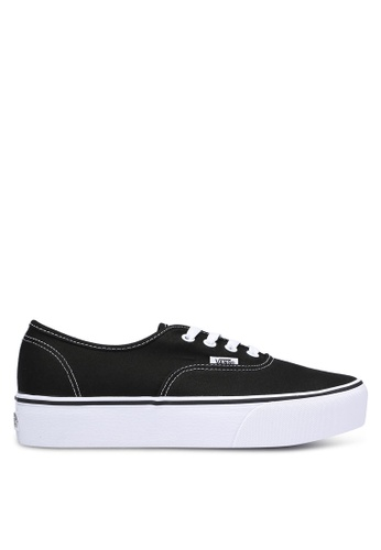 VANS black Authentic Platform Sneakers VA142SH0RQGAMY_1